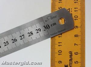 Измерение угла заточки.